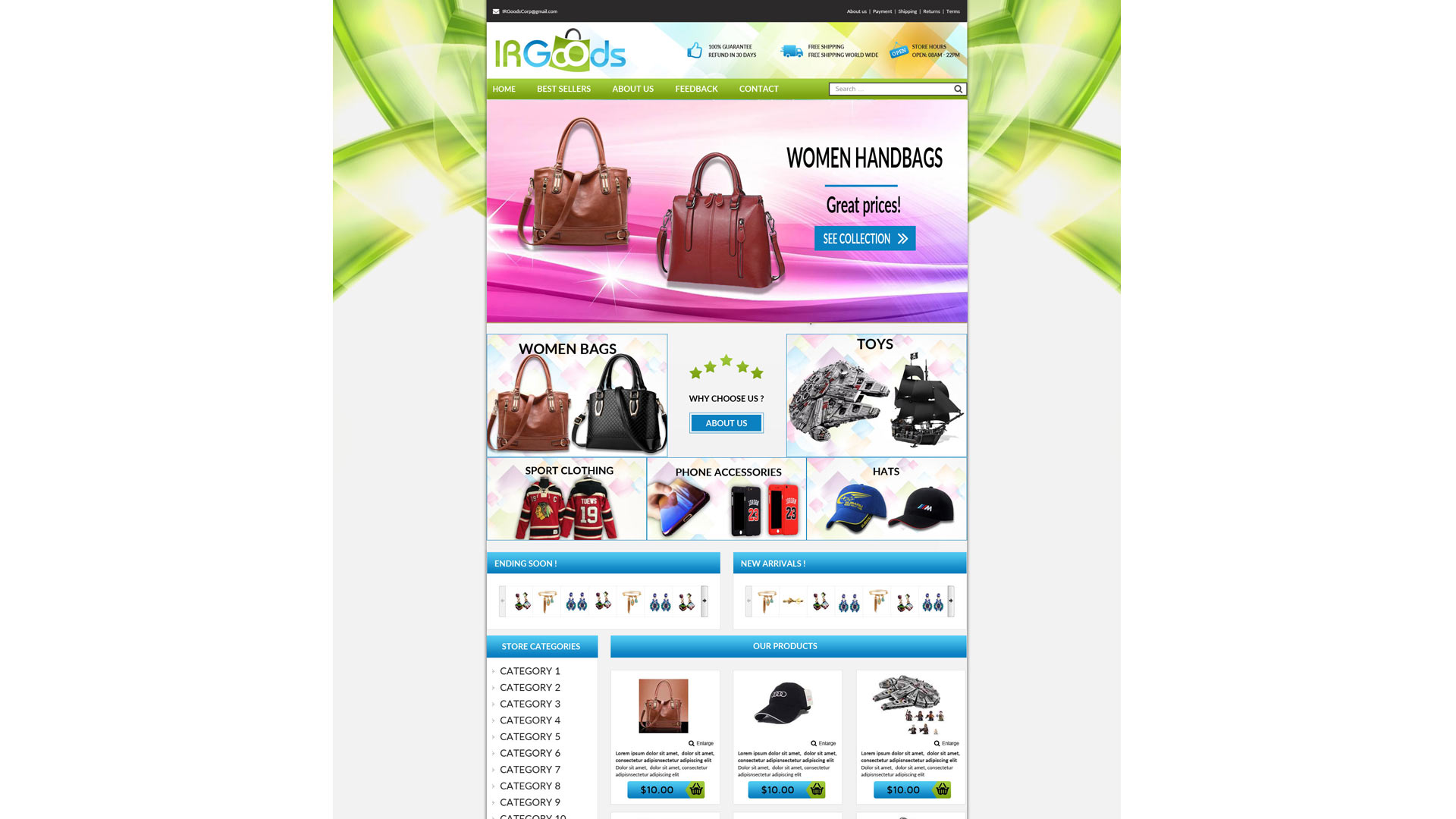Nrngoods template ebay store zeinebay for Ebay store design templates free