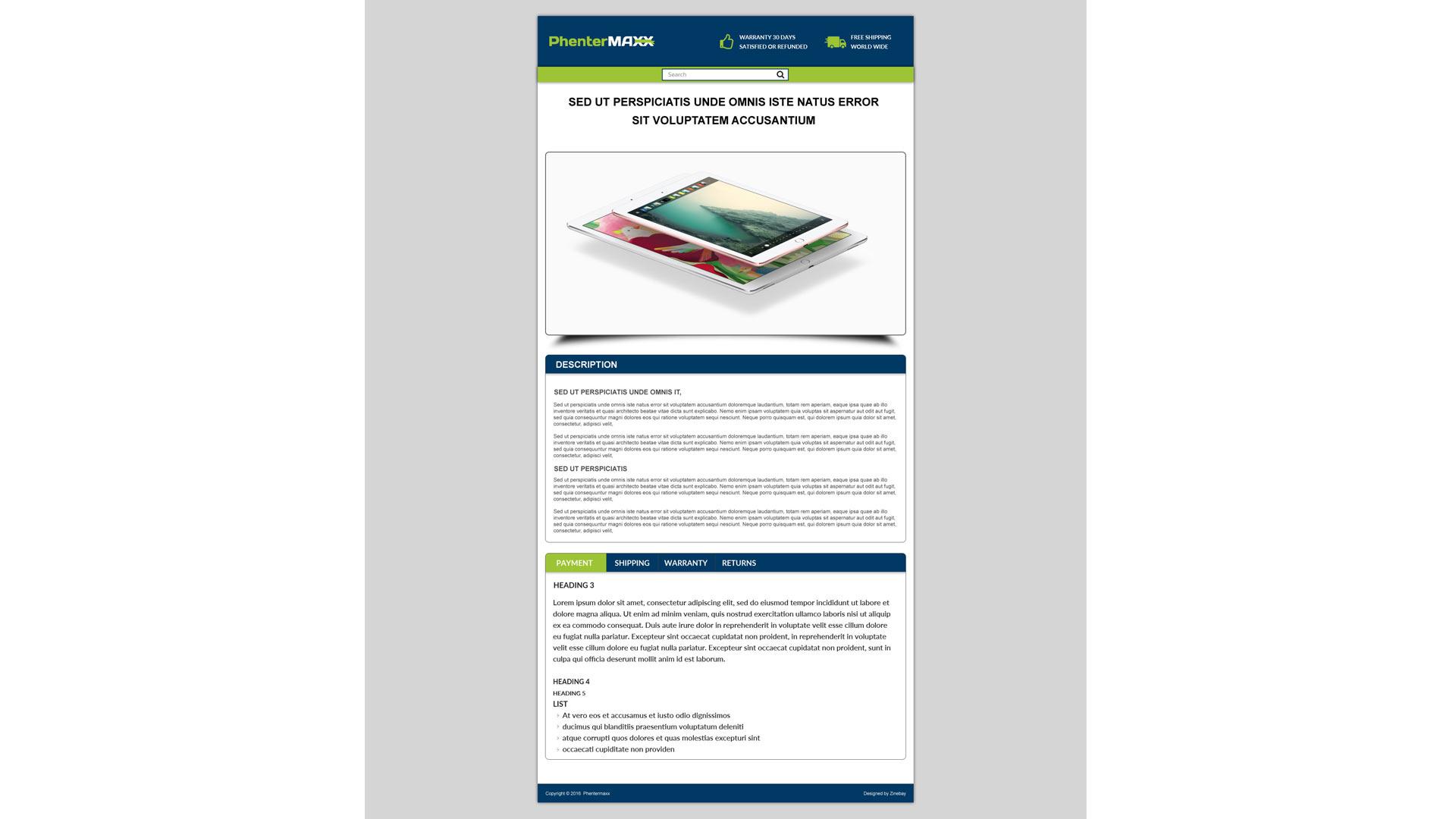 ebay template design software - phentermaxx listing ebay template zeinebay