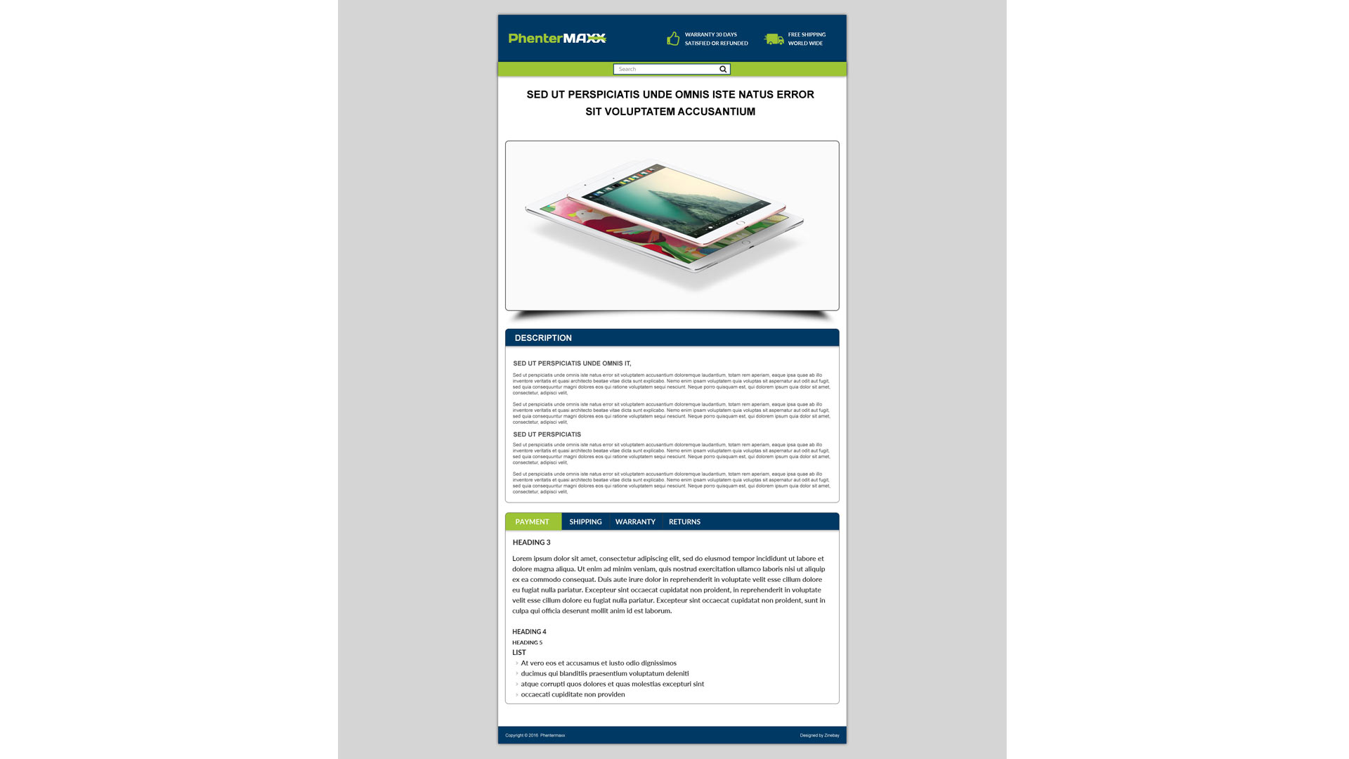 Phentermaxx listing ebay template zeinebay for Ebay template design software