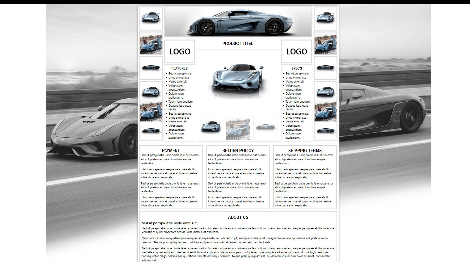 Shoplonnak listing ebay template zeinebay for Ebay template design software